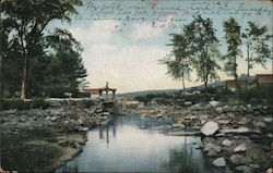 Highland Lake Dam Postcard