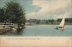 The Lake at Whalom Park Postcard