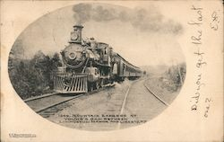 Mountain Express at Young's Gap between Livinston Manor and Liberty, NY Postcard