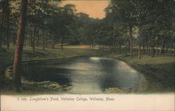 Longfellow's Pond, Wellesley College Postcard