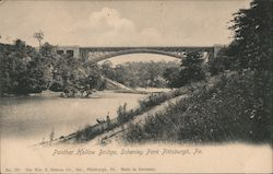 Panther Hollow Bridge, Schenley Park Postcard