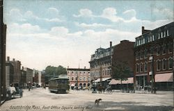 Post Office Square looking West Postcard