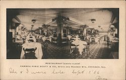 Restaurant (Eighth Floor) Carson Pirie Scott & Co, State and Madison Sts. Postcard