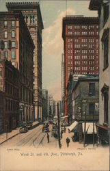 Wood St. and 4th Ave Postcard