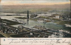 The Point (Monongahela, Allegheny and Ohio Rivers) from Mt. Washington Postcard