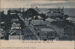 View S.W. From City Hall Postcard