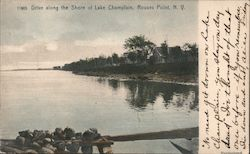 Drive along the Shore of Lake Champlain