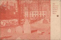 Old Granary Burying Ground Postcard