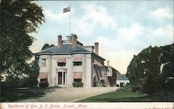 Residence of General B.F.Butler Postcard
