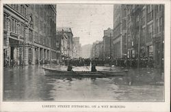 Liberty Street on a Wet Morning Postcard