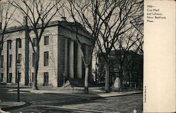 City Hall and Library Postcard