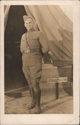 Soldier-2nd. Lt Fulbright Postcard