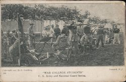 War college students US Army and National Guard Postcard