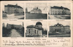 Buildings on the campsu of Univ of WA Postcard