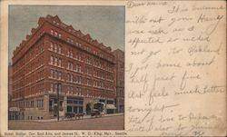 Hotel Butler 2nd Ave and James St Postcard