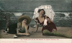Come Join Us on the Beach - Wool Swimsuits Postcard