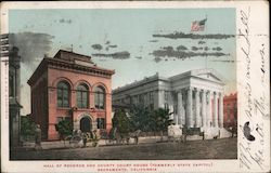 Hall of Records and County Court House (formerly State Capitol) Postcard