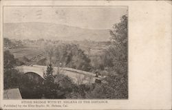Stone Bridge with St. Helena in the Distance Postcard