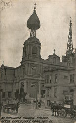 St. Dominick's Church after the Earthquake, 1906 Postcard