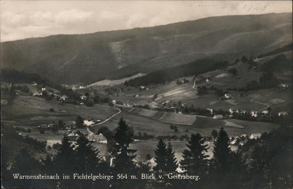 Warmensteinach in the Fichtel Mountains from Geiersberg Germany