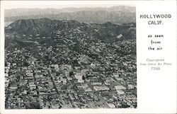 Aerial View of Hollywood Postcard