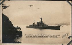 Special Service Squadron British Navy Postcard