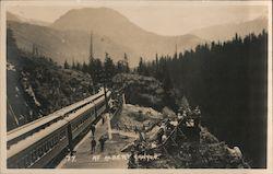 Vintage 1980s Postcard Francois Lake British Columbia BC Canada Northern Interior Scenic Mountain View Photochrome Postally Unused