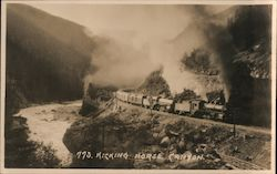 Canadian Pacific Railway Running Through Kicking Horse Canyon Postcard