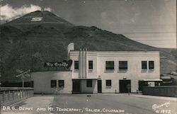 D.R.G. Depot and Mt. Tenderfoot Postcard
