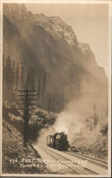 776. East Portal Connaught Tunnel, Mt Macdonald Postcard