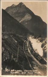 775 Entering Connaught Tunnel and Ross Peak Postcard
