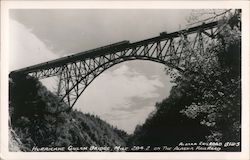 Hurricane Gulch Bridge, Mile 284.2 Alaska Railroad Postcard