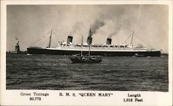 "R. M. S. ""Queen Mary"" Postcard"