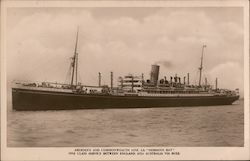 S.S. Hobsons Bay, Aberdeen and Commonwealth Line Postcard