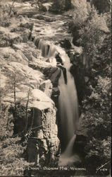 Falls Shell Canon, Bighorn Mountains Postcard