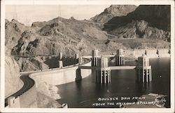 Boulder Dam From Above the Arizona Spillway