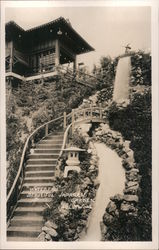 Waterfall, Japanese Garden Postcard
