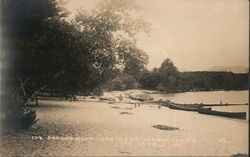 The Beach and Boat Landing At Tarrington's, 1917