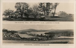 Wishing Well and Country Club, Lucerne-in-Maine, Tennis Courts, Phillips Lake Postcard