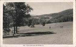 On the Golf Course, Hot Springs, VA Postcard