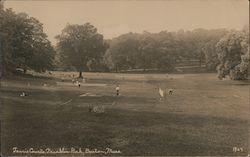 Tennis Courts, Franklin Park Postcard