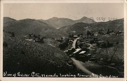 View of Silver City, Nevada Postcard