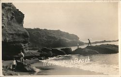 Rocks Arch Beach Postcard