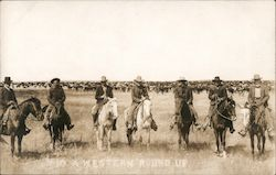 A Western Round Up of Cowboys Postcard