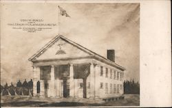 Town Hall Architectural Rendering Postcard