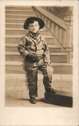 Studio Portrait: Little Cowboy Postcard