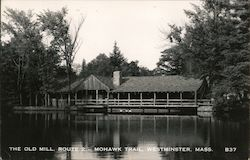 The Old Mill, Route 2., Mohawk Trail Postcard