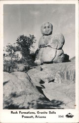 Rock Formations, Granite Dells Postcard