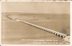 First Reconstructed Bridge, Leaving Lower Matacumbe Postcard