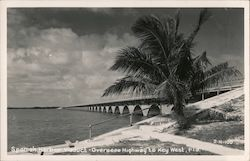 Spanish Harbor Viaduct - Overseas Highway to Key West, Fla. Postcard